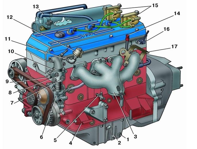 кронштейн опоры двигателя;