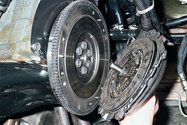 Установка диска сцепления